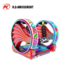 Most popular amusement ride round swing car 2 seat cheap go karts for sale