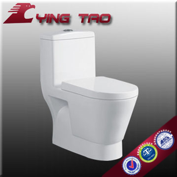 Bathroom Sanitary Ceramic Toilet Bowl Certification of Country Public Unique One Piece Toilet Wc