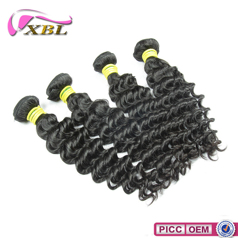 New Arrival Brazilian Deep Wave Virgin Remy Machine Weft Human Hair Wavy Extension