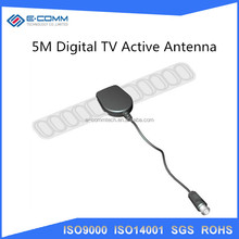 Factory price ! 5M Digital TV Active Antenna Mobile Car DVB-T ISDB-T Aerial with SMA Connector, Amplifier Booster