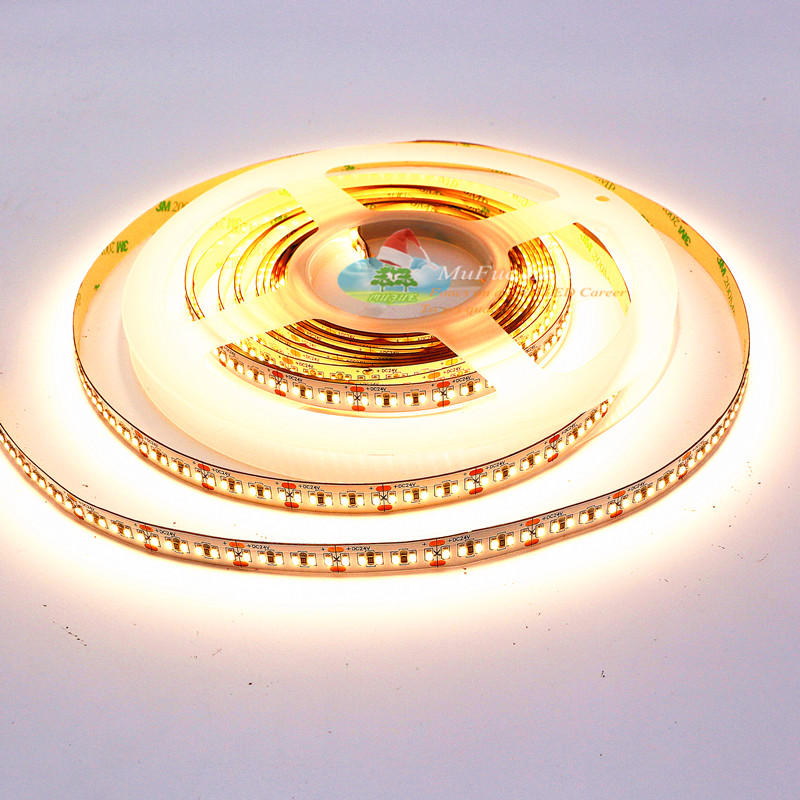 ce rohs dc 12v 240leds/<strong>m</strong> warn white led strip 3014 led strip