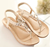 Elegant shoes made in china flats ladies sandals female wholesale shoes crystal bohemia toepost women's shoes