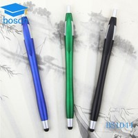 2016 newest plastic promotional stylus ball pen with screen cleaner