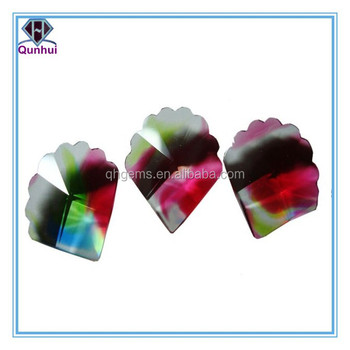 special glossy colorful glass irregular shaped cubic zirconia