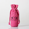 chinese supplier 100% cotton canvas drawstring bag round bottom storage bag wine bag gift pouch wine gift bags