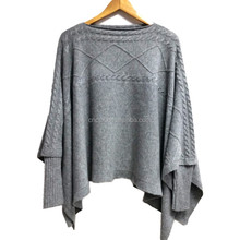 15PKCSP20 fall winter thick women sweater mink poncho