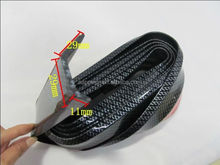 Universal racing car 2.5m front lip skirt protector / bumper lip strip with carbon fiber look for exterior accessories