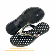 Pretty diamond custom PCU blank sublimation ladies beach flip flops