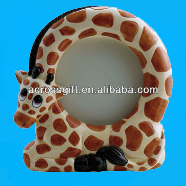 Giraffe ceramic photo frames designs