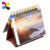 Customized printing pocket photo folding paper desk calendar