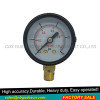Black steel air pressure gauge manometer