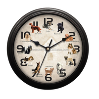 Cason Dog Sound Wall Clock With Music