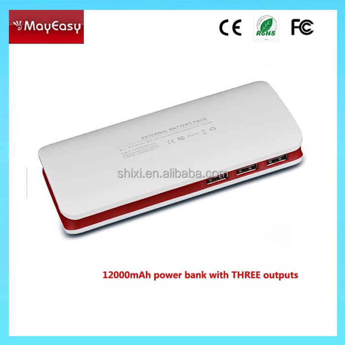 Full Super Capacity 12000mAh portable Power Bank Battery 12000mAh