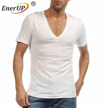 Mens sweat proof crew neck undershirts with underarm shields sewn-in