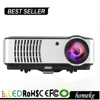 Andoird Wifi Led Projector HOME 444 Multimedia Portable Projector for Home Theater Education Meeting Advertisement PC KTV