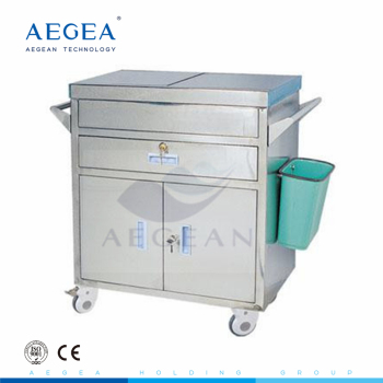 AG-ET022 medical emergency trolley equipment function with 2 Covers