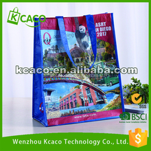 Custom Promotion Grocery Full Color R-Pet Shopping Bag /Rpet Tote Bag For Sale