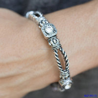 cheap items for sale paved gemstone antique silver bracelets for women