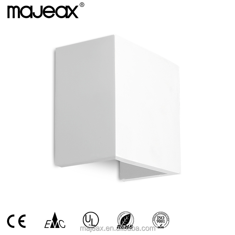 Gypsum Plaster Modern White Decorative Up and Down led Wall Lamp