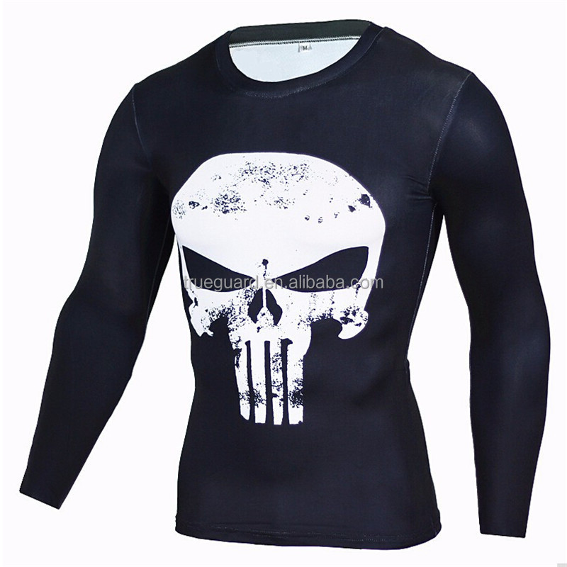 New Superhero Soldier Bucky Anime 3D T Shirt Fitness Men Crossfit T-Shirt Long Sleeve Compression Shirt