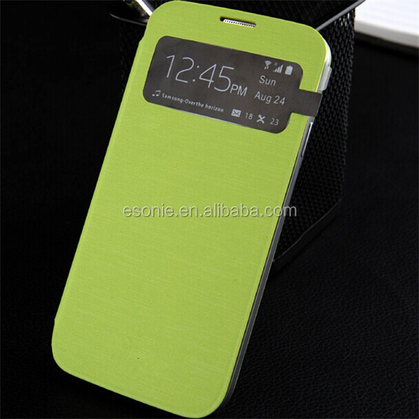 Leather Flip Smart View Battery Case Cover for Samsung Galaxy S4 I9500 I9505