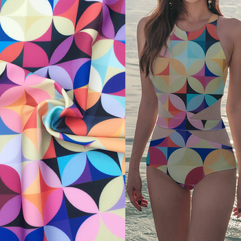 Swimming costume material textile printing polyester stretch swim shorts fabric