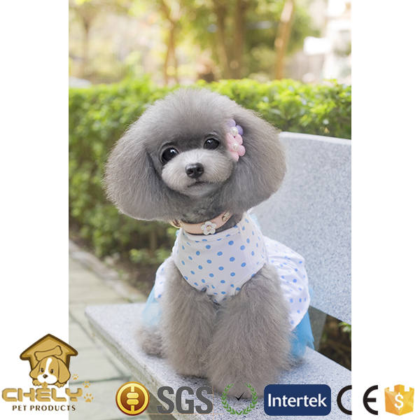 500+ models available pet clothing dog clothes with big flower as decoration