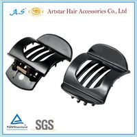 Large black plastic hair claw clips for women