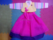 2016 korean tradition dress children long sleeve party dress