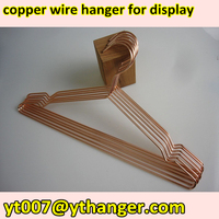 delicate metal wire clothes hanger copper hanger shirt hanger