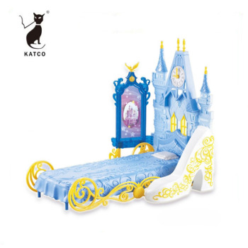 China Manufacturers High Quality Beautiful Baby Doll Toy With Dressing Table And Castle Bed