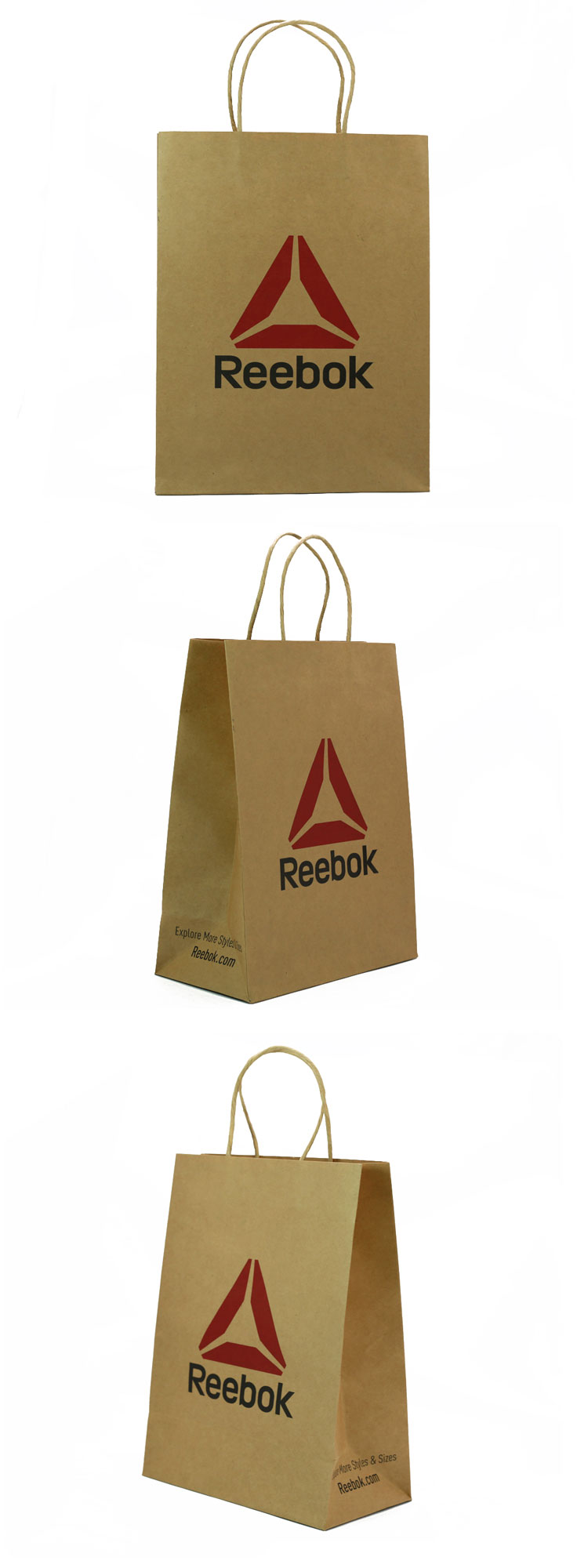 SLK-08 China factory cheapest twist paper rope recycled brown kraft paper bag