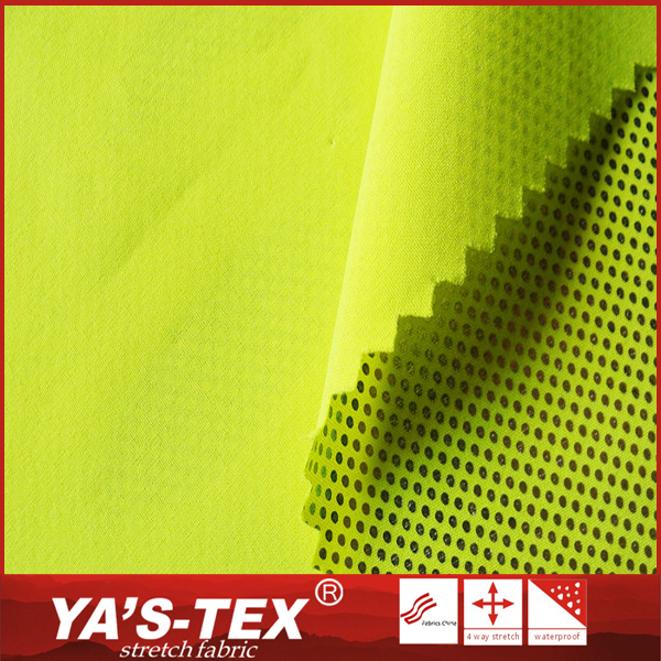 Creative eco-friendly gold foil printed polyester 4 way stretch heat insulation fabric
