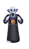 120cm/4ft air blown grim reaper yard decoration,skull Lighted Halloween inflatable,