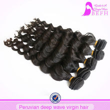 Full cuticle natural color deep wave raw vigin lima peru peruvian hair