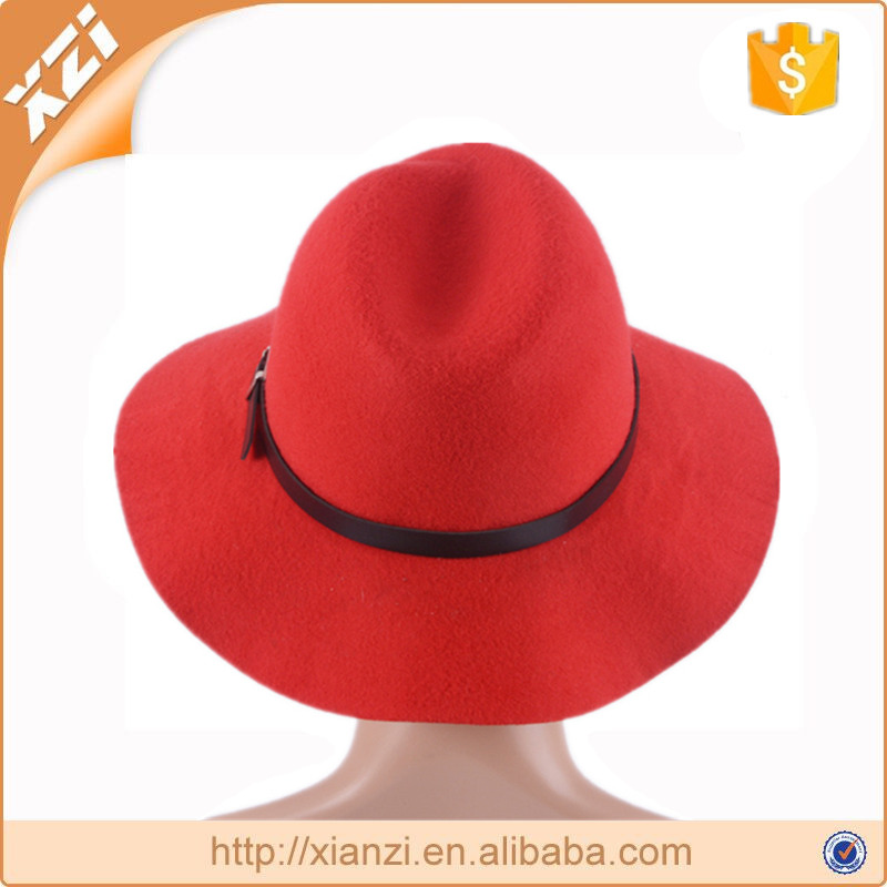 Polyester girls hat fashion trendy hat dress fedora hats