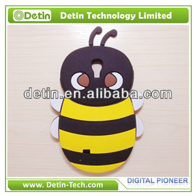 Bee shaped 3d stereoscopic silicon case for samsung galaxy grand case