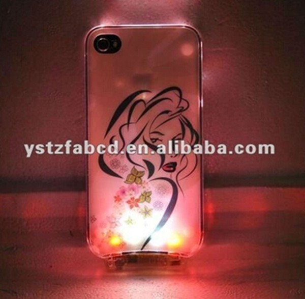 Hot sale LED glowing cell phone case