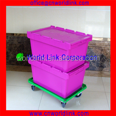 OEM 340 Packaging 65L Durable Wholesale Plastic Totes