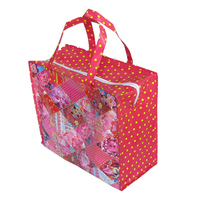 Manufacturer eco reusable shopping bag with zipper