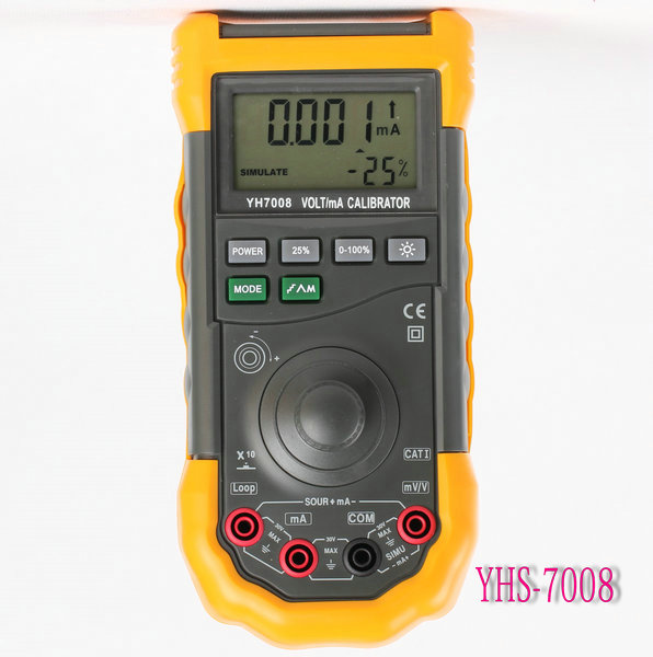 One-Handed Operation YH7008 Volt/mA Digital Calibrator With Lithium ion Battery