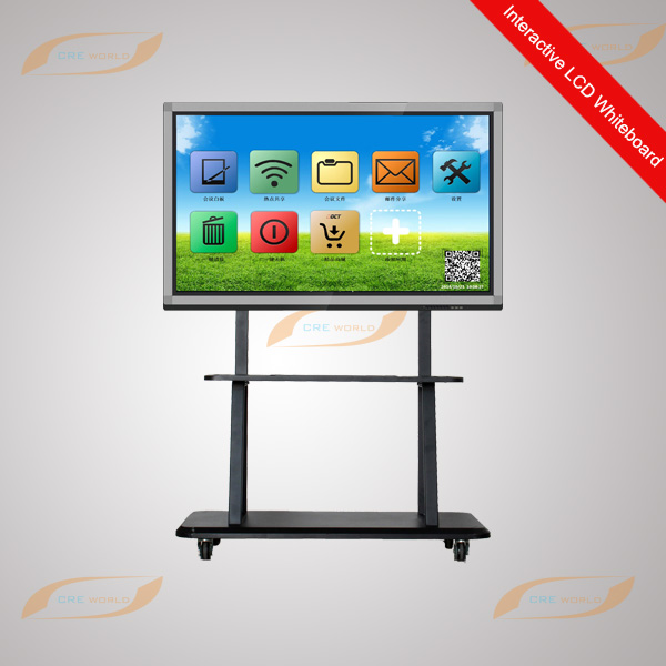 75 inch HD Touch Screen LCD no projector interactive whiteboard with stand