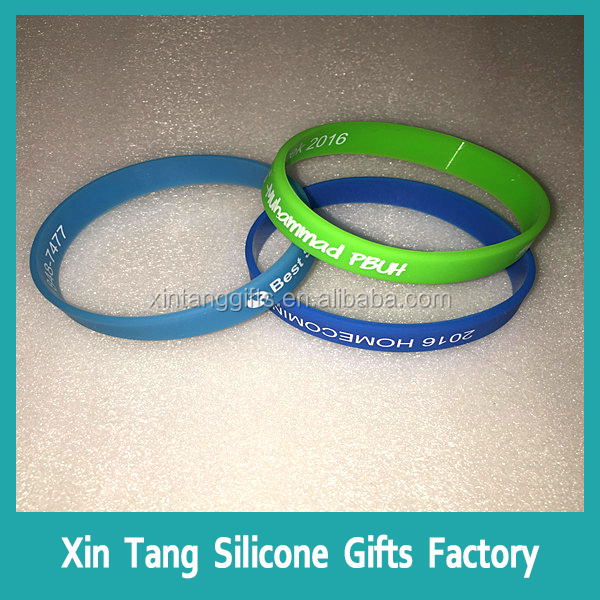 2016 New Fashion Sports Magnetic Bracelet,Rubber Cheap Custom Logo Bracelet