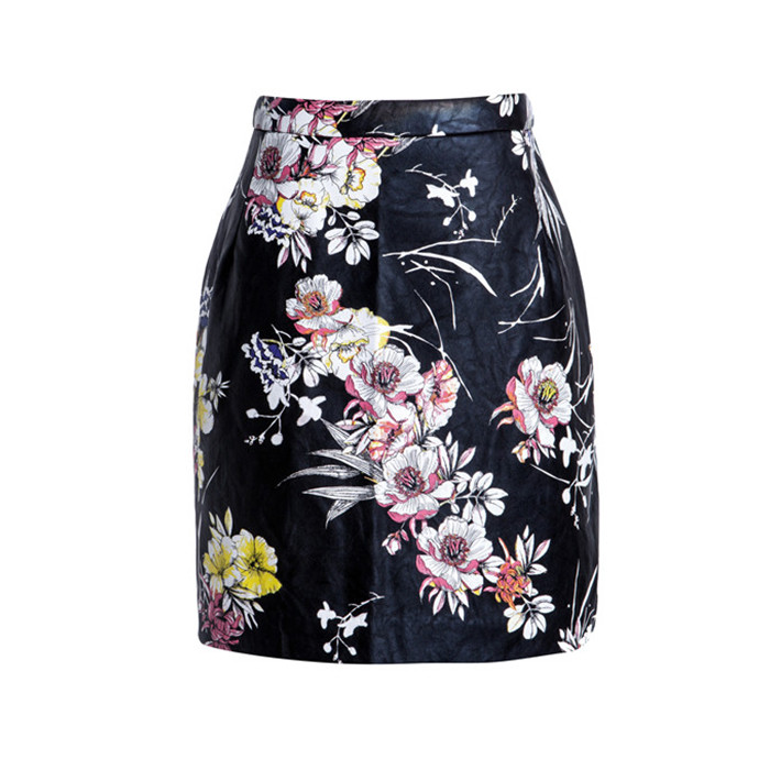 Factory price custom high quality floral skirts for women