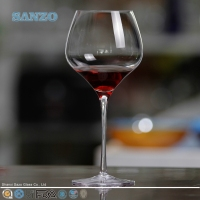 SANZO Small wine glass with short stem for train/airline