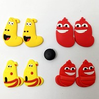 Cute Cartoon Yellow Red Bugs Croc Clog PVC Shoe Charm Buckles XH-79