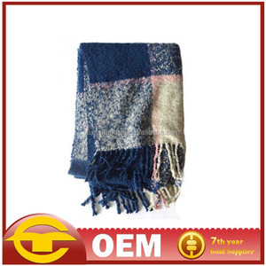 Thick Winter Long Fashion OEM Design 100% acrylic knitted scarf