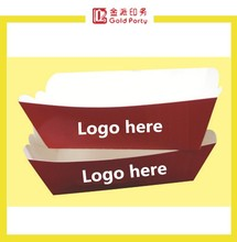 Chinese Cheap Disposable Chicken nugget tray boat seat paper box boat shape box for fast food