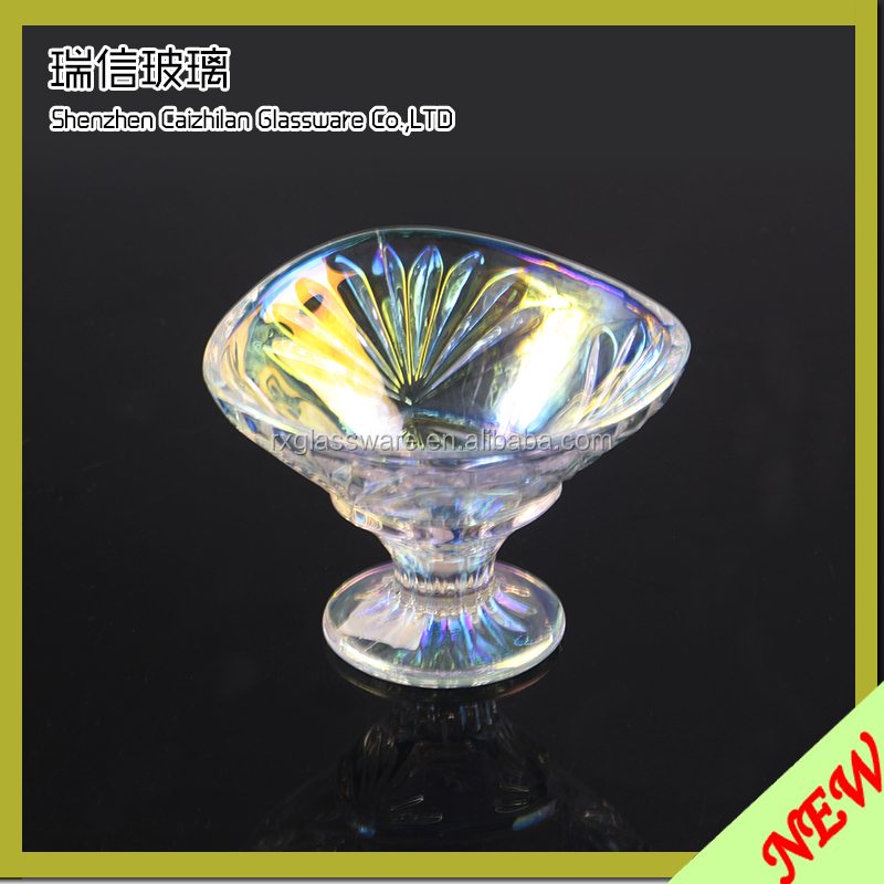 Shiny Glass Candy Bowl With Bow Tie For Christmas /Clear Round Glass Candy Bowl/Glass Candy Bowl With Lid