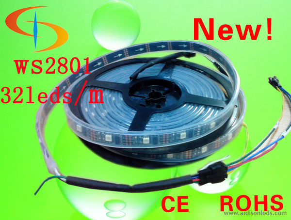 super bright CE RoHS certified SMD5050 led flexible strip light 32 led / m DC5 V ws2812